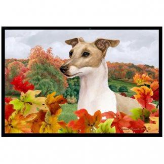 Italian Greyhound Mat - Autumn Leaves