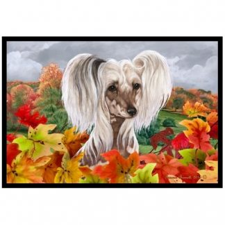 Chinese Crested Mat - Autumn Leaves