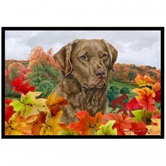 Chesapeake Bay Retriever Mat - Autumn Leaves