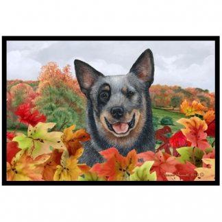 Australian Cattle Dog Mat - Autumn Leaves