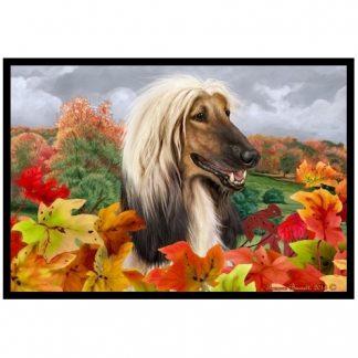 Afghan Hound Mat - Autumn Leaves
