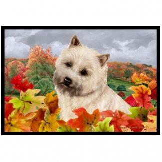 Cairn Terrier Mat - Autumn Leaves (Wheaten)