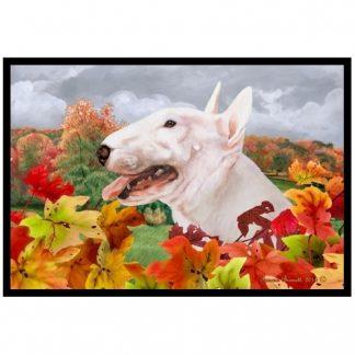 Bull Terrier Mat - Autumn Leaves