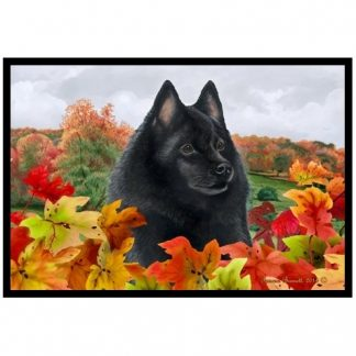 Schipperke Mat - Autumn Leaves