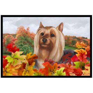 Silky Terrier Mat - Autumn Leaves
