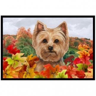 Yorkshire Terrier Mat - Autumn Leaves (Puppy cut)