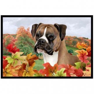 Boxer Mat - Autumn Leaves (Uncropped)