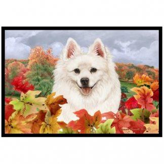 American Eskimo Mat - Autumn Leaves