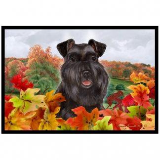 Schnauzer Mat - Autumn Leaves (Black-Uncropped)