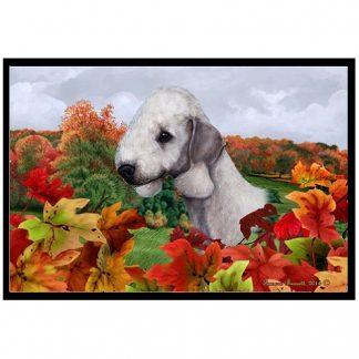 Bedlington Terrier Mat - Autumn Leaves
