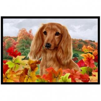 Longhaired Dachshund Mat - Autumn Leaves