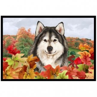 Alaskan Malamute Mat - Autumn Leaves