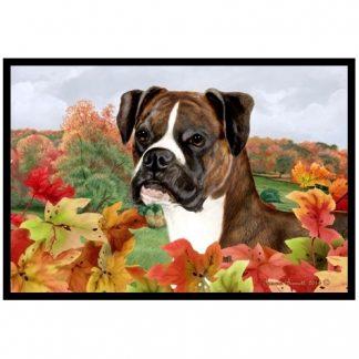 Boxer Mat - Autumn Leaves (Uncropped-Brindle)
