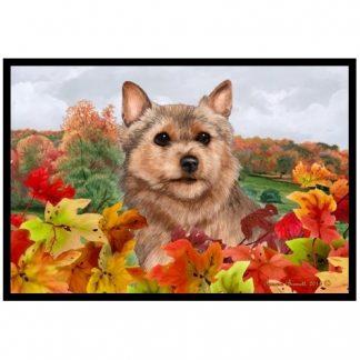 Norwich Terrier Mat - Autumn Leaves