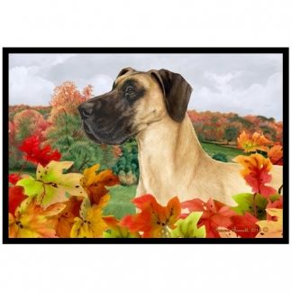 Great Dane Mat - Autumn Leaves (Uncropped)
