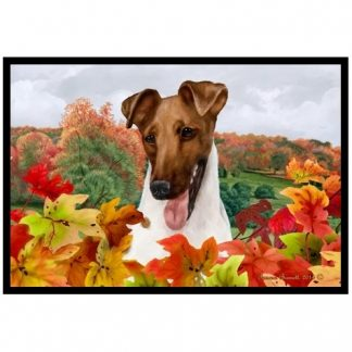 Smooth Fox Terrier Mat - Autumn Leaves