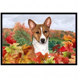 Basenji Mat - Autumn Leaves