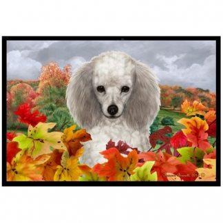 Silver Poodle Mat - Autumn Leaves