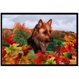 Australian Terrier Mat - Autumn Leaves
