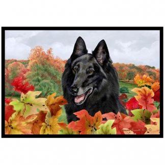 Belgian Sheepdog Mat - Autumn Leaves