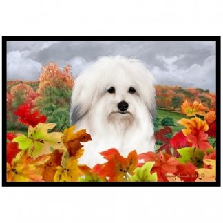 Coton de Tulear Mat - Autumn Leaves