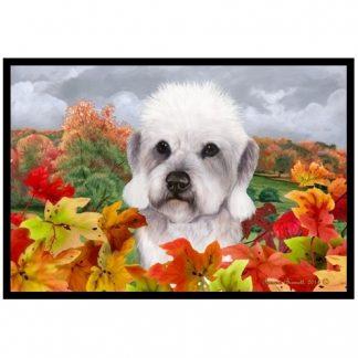 Dandie Dinmont Mat - Autumn Leaves (Pepper)