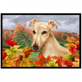 Greyhound Mat - Autumn Leaves (Fawn)