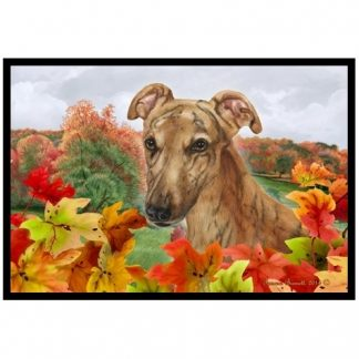 Greyhound Mat - Autumn Leaves (Red Brindle)
