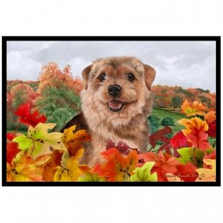 Norfolk Terrier Mat - Autumn Leaves