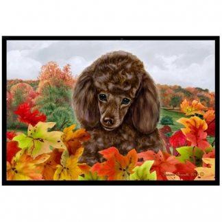 Chocolate Poodle Mat - Autumn Leaves