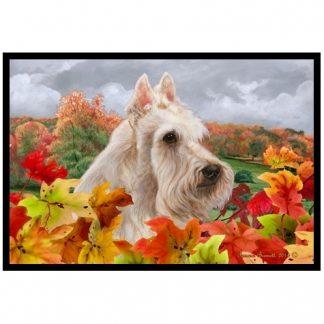 Scottish Terrier Mat - Autumn Leaves (Wheaten)