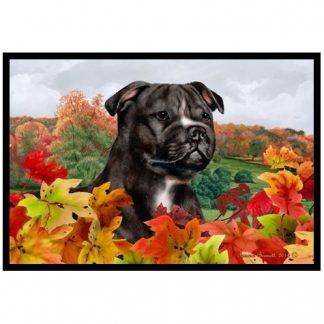 Staffordshire Bull Terrier Mat - Autumn Leaves