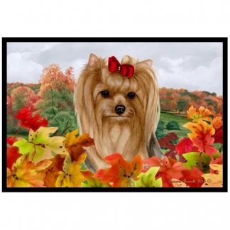 Yorkshire Terrier Mat - Autumn Leaves