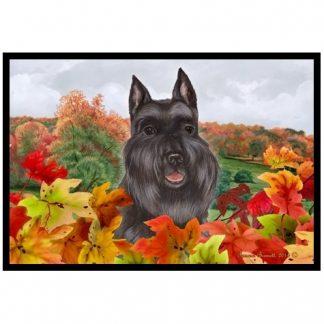 Schnauzer Mat - Autumn Leaves (Black)