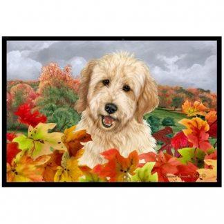 Goldendoodle Mat - Autumn Leaves (Blonde)
