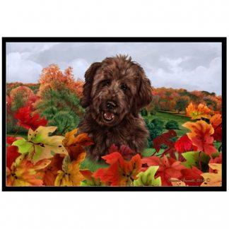 Goldendoodle Mat - Autumn Leaves (Chocolate)