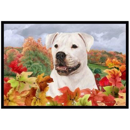 American Bulldog Mat - Autumn Leaves