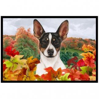 Rat Terrier Mat - Autumn Leaves (Tri)