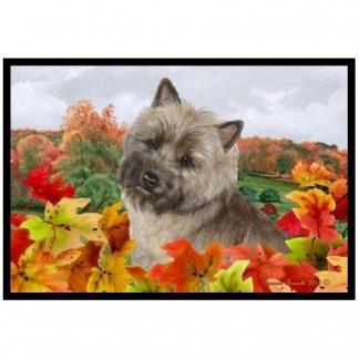 Cairn Terrier Mat - Autumn Leaves (Brindle)