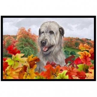 Irish Wolfhound Mat (Gray) - Autumn Leaves