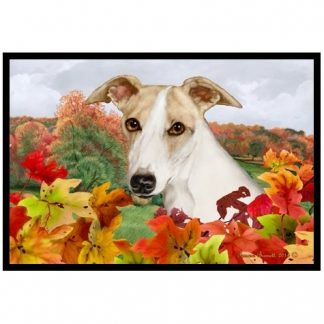 Whippet Mat - Autumn Leaves (Fawn)