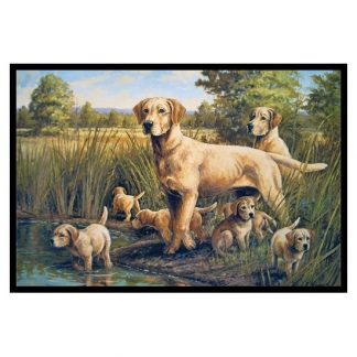 Yellow Lab Mat - The Outing