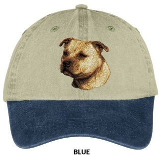 Staffordshire Bull Terrier Hat - Embroidered (Fawn)