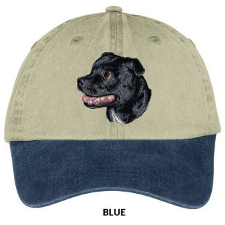 Staffordshire Bull Terrier Hat - Embroidered (Black)