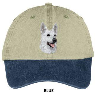 German Shepherd Hat - Embroidered (White)