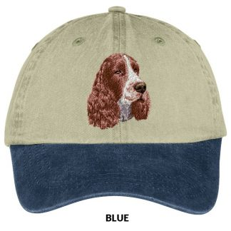 Springer Spaniel Hat - Embroidered (Liver)