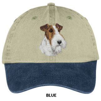 Wire Fox Terrier Hat - Embroidered