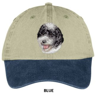 Portuguese Water Dog Hat - Embroidered (Black White)