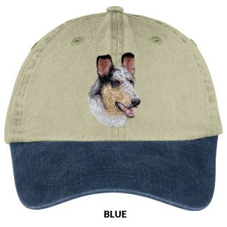 Collie Hat - Embroidered (Smooth Blue Merle)