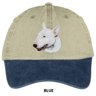 Bull Terrier Hat - Embroidered (White)